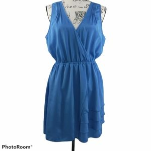 Pins & Needles Blue Faux Wrap Dress